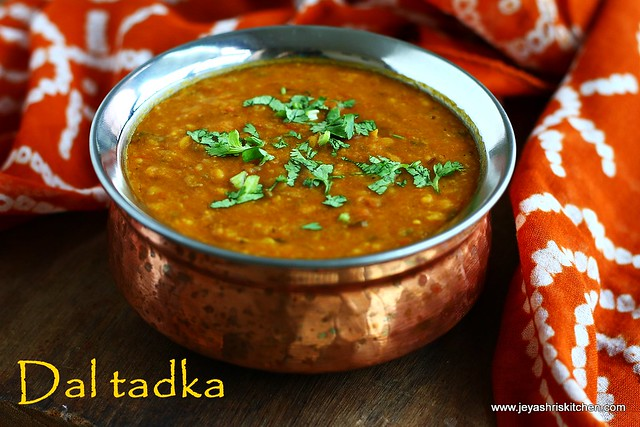 DHABA STYLE DAL TADKA RECIPE| DAL TADKA | Jeyashri's Kitchen