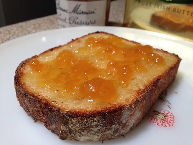 Peach Preserves/Irish Butter Toast