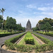The ancient 9th century Hindu temples of Prambanan in central Java, Indonesia.