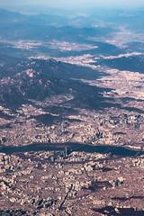 여의도 汝矣島 Yeouido, Seoul from Asiana 106