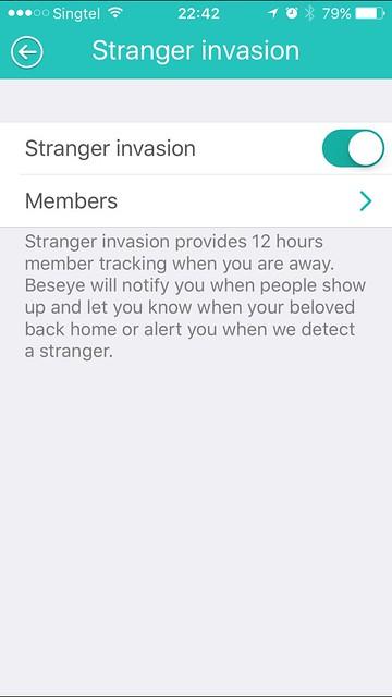 Beseye Pro - iOS App - Stranger Invasion