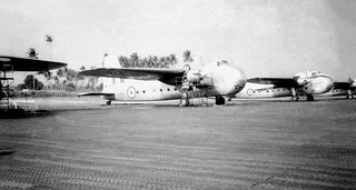 1966 RNZAF Bristol Freighters on 41 Sqn disperal, RAF Changi, Singapore