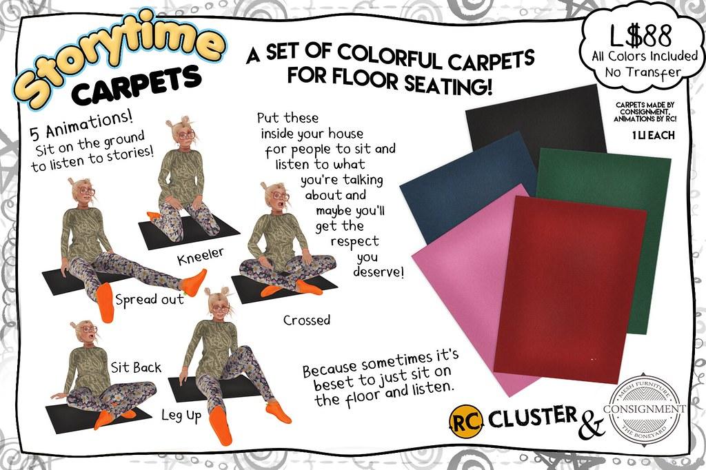 -RC- & Consignment Storytime Carpets - SecondLifeHub.com