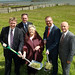 Cutting the sod of new housing scheme in Greenisland, 03 June 2015