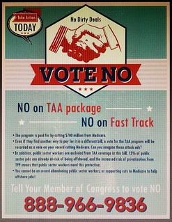 Vote NO on Fast Track