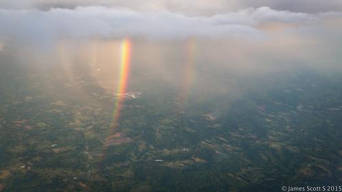 park sky water canon river landscape rainbow unitedstates charlotte wide northcarolina double mo rainbows ultra 5diii