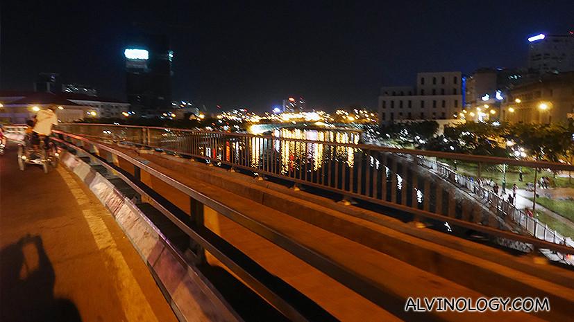 City sights along the ride