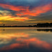 Burning sky appeared just as I was about to pack up and leave! by Kenneth's Photography