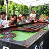 Backyard Slot car racing birthday party today with Racing Party Events. #backyardparty #slotcarparty #racingparty #carsparty #racingpartyevents #mobileslotcarracing #mobileslotcarparty #birthdayparty #birthdayfun #kidsracingbirthdayparty #childrenbirthday by racingpartyevents
