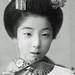 Maiko Danko with Fan 1910s by Blue Ruin 1
