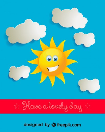 sunny day clouds clip vectors