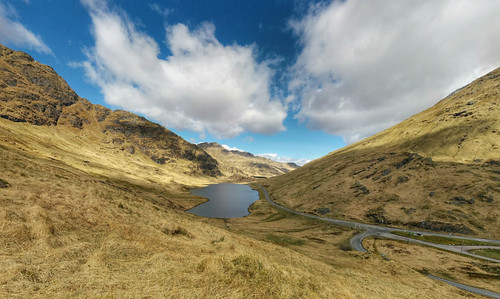 view of Loch Restil from Rest and Be Thankful