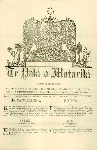 Te Paki o Matariki (1893)