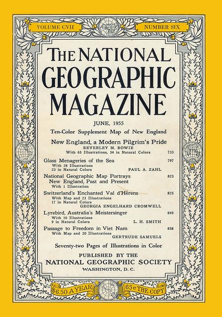 National Geographic June 1955 (1) - Passage to Freedom in Viet Nam - Hành trình đến tự do tại Việt Nam