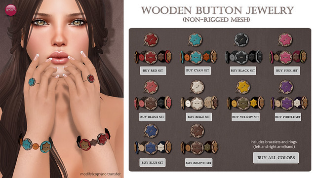 Wooden Button Jewelry