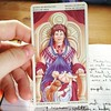 Daily card - queen of pentacles. Juno :) using the #Juno filter too :)