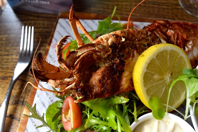 Grilled Lobster at The Boatyard, Isle of Man