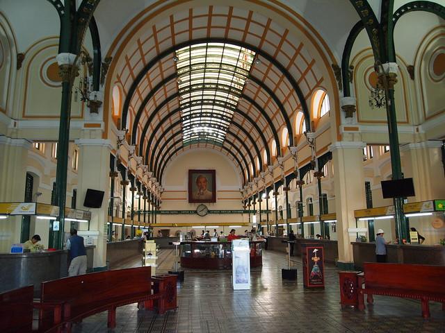P6249572 サイゴン中央郵便局 ベトナム ホーチミン Buu Dien Thanh Pho