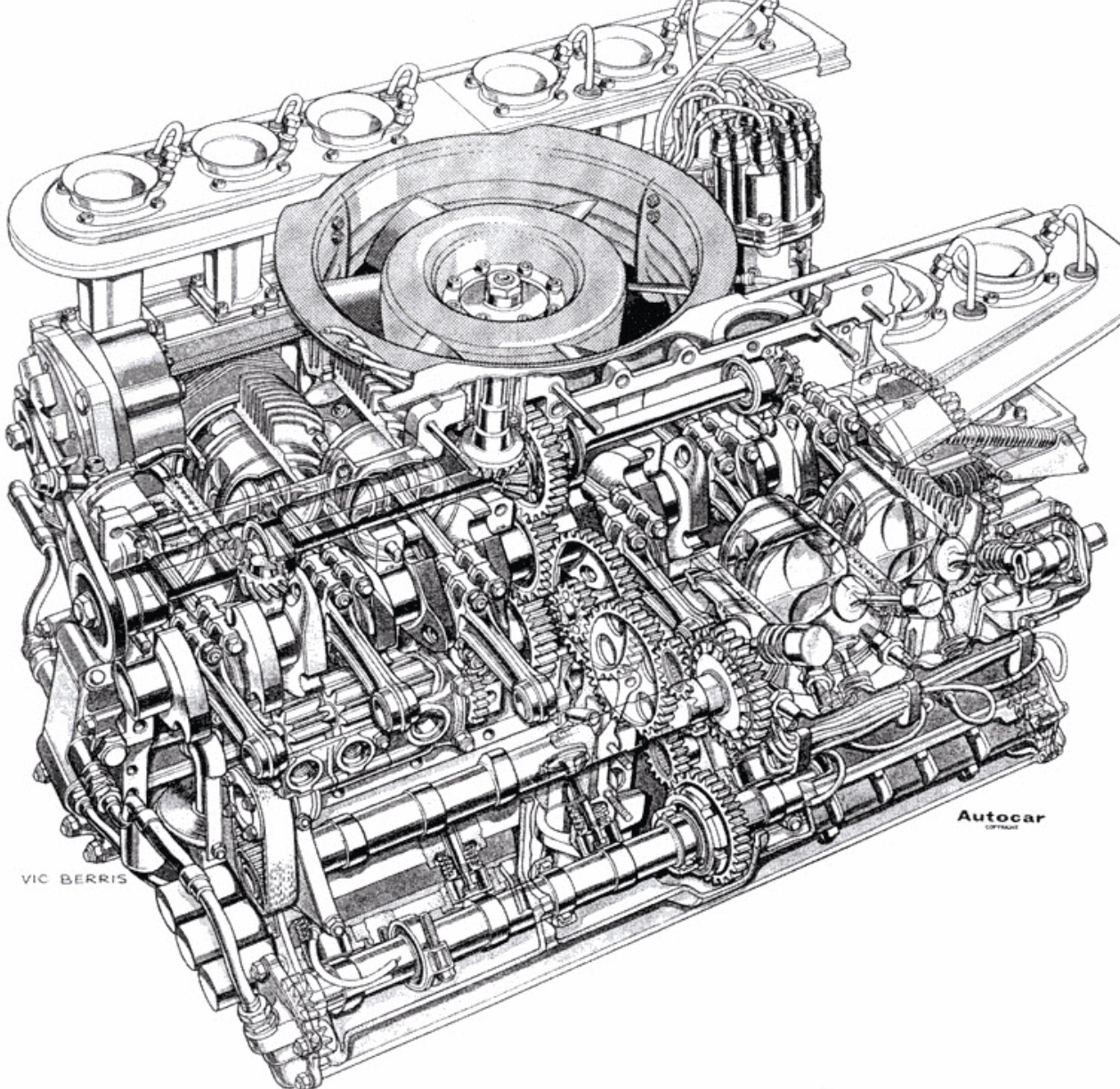 The Amazo Effect Cutaway Diagram Files Porsche 917 Engine By Supercar Vic Berris