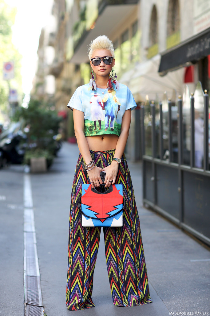 Esther Quek at Milan Fashion Week Menswear