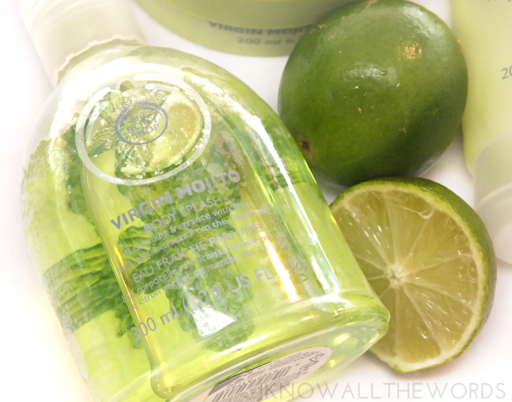the body shop virgin lime mojito body splash, sorbet, and body butter (4)