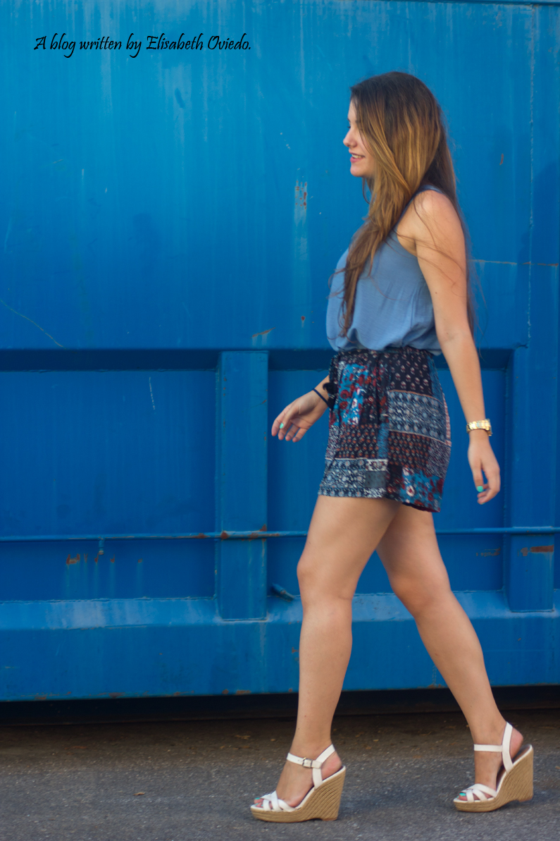 falda azul STRADIVARIUS HEELSANDROSES (5)
