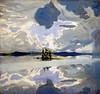 Akseli Gallen-Kallela, clouds above a lake 1904-1906
