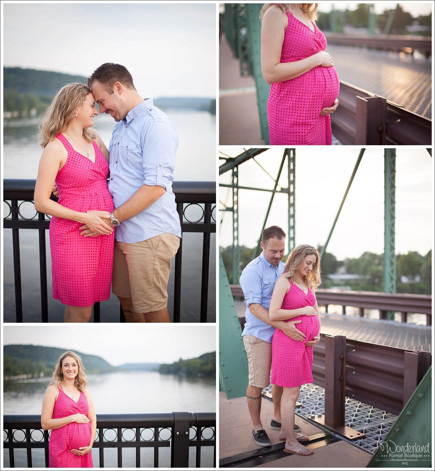 New Hope Bucks County PA Maternity Portraits Delaware River | WonderlandPortrait.com