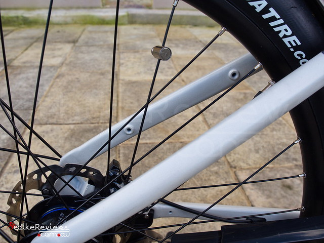 "Mounting holes on rear used for modular rack system • <a style=""font-size:0.8em;"" href=""https://www.flickr.com/photos/ebikereviews/20363626072/"" target=""_blank"">View on Flickr</a>"