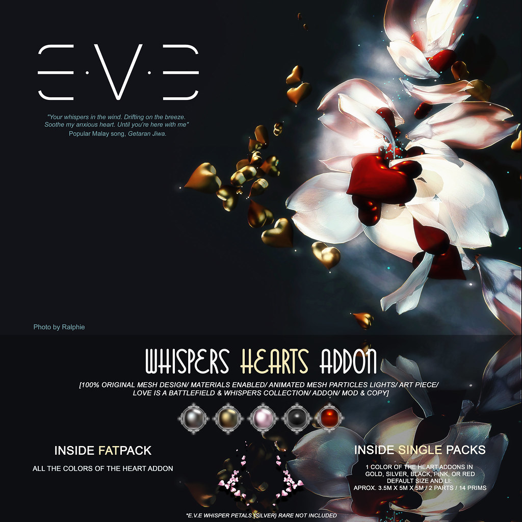 E.V.E Whispers Hearts {Addon Colors} - SecondLifeHub.com