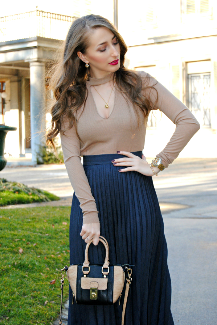 Pleated Skirt Outfit(002b)