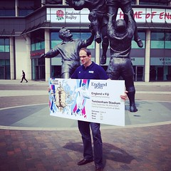 Martin Johnson at #RugbyWorldCup2015 ticket design launch at #Twickenham #England2015 #Rugby #igerslondon #rugbytickets