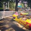 Luci and Rubi riding together at Dutch Wonderland.
