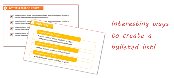 2 Interesting Ways to Create Bulleted Lists (PowerPoint 2013)