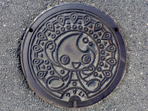 Gose Nara, manhole cover 2 (奈良県御所市のマンホール2)