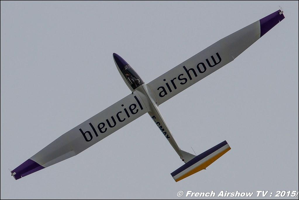 Pilatus B4 Voltige Bleu Ciel Airshow 2015,F-CMAX,Denis HARTMANN, Planeur voltige Display 2015, BA-116 Luxeuil , Meeting Aerien 2015