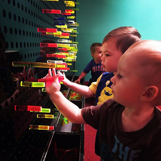 Archer had a fun day at the idea museum with Braxton by bartlewife