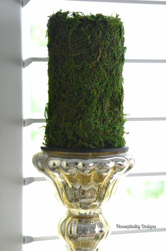 Moss Covered Candle-Housepitality Designs