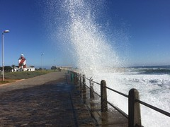 Surf at Green Point lighthouse.