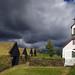 Church and old farm in Keldur by Reinhard.Pantke