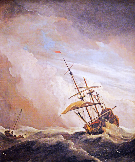 A Ship on the High Seas Caught by a Squall, Known as