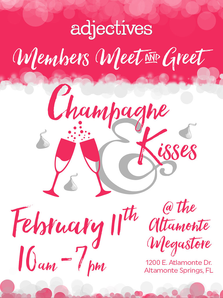 Join us for Champagne & Kisses at our next Member's Meet & Greet 2/11