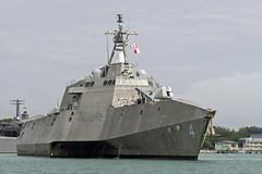 USS Coronado (LCS 4) departs Changi Naval Base in Singapore, Jan. 31. (U.S. Navy/MC2 Amy M. Ressler)
