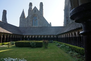 The cloister next to the church