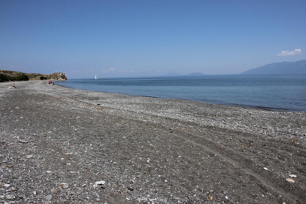 Agios Fokas, den sorte strand på Kos