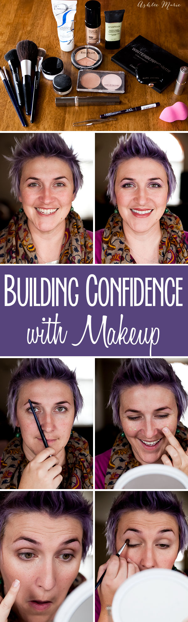 while confidence comes from within sometimes you can help it along by taking care of the outside, my makeup routine that helps me feel more me