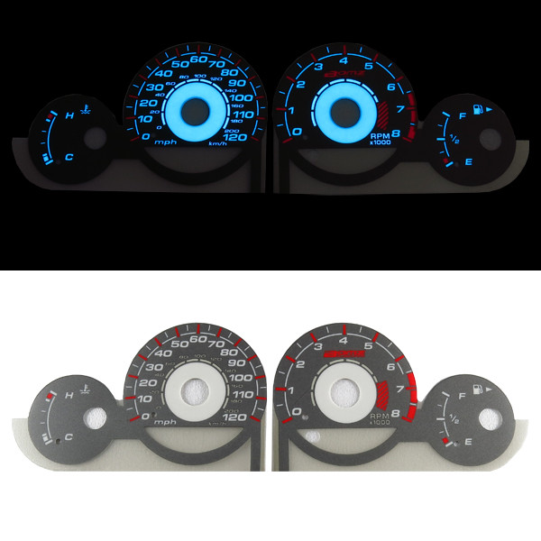 For Dodge Neon 2000 2005 El Glow Gauge Indiglo Dash White Face Cluster ...