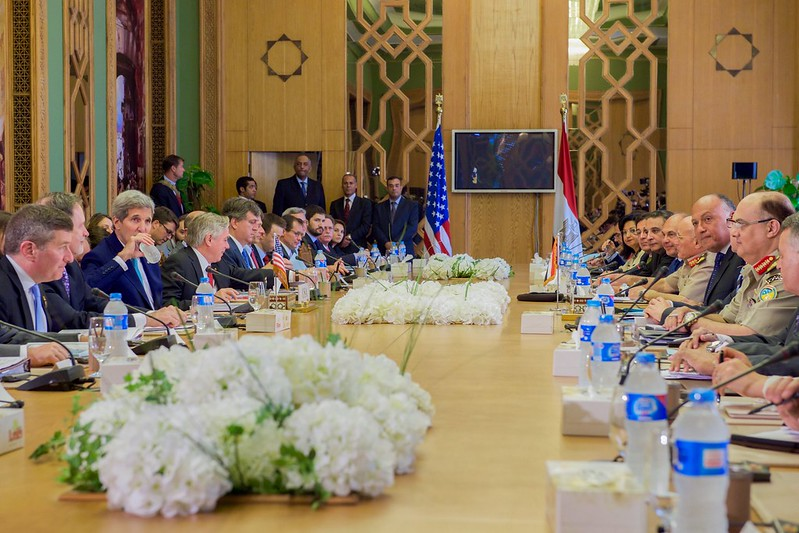 Secretary Kerry and U.S. Delegation Meet With Egyptian Counterparts At Outset of Strategic Dialogue Between Two Countries in Cairo