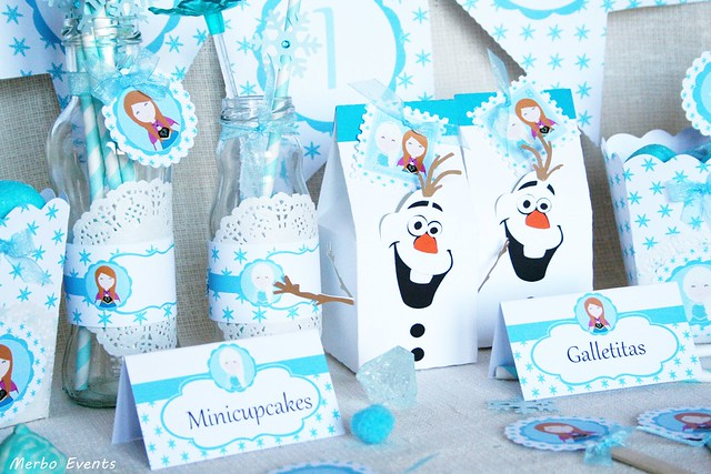 Kit imprimible cumpleaños frozen