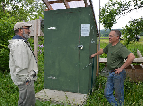 NRCS Soil Conservationist Danny Peet, left, with Vermont farmer Lorenzo Whitcomb